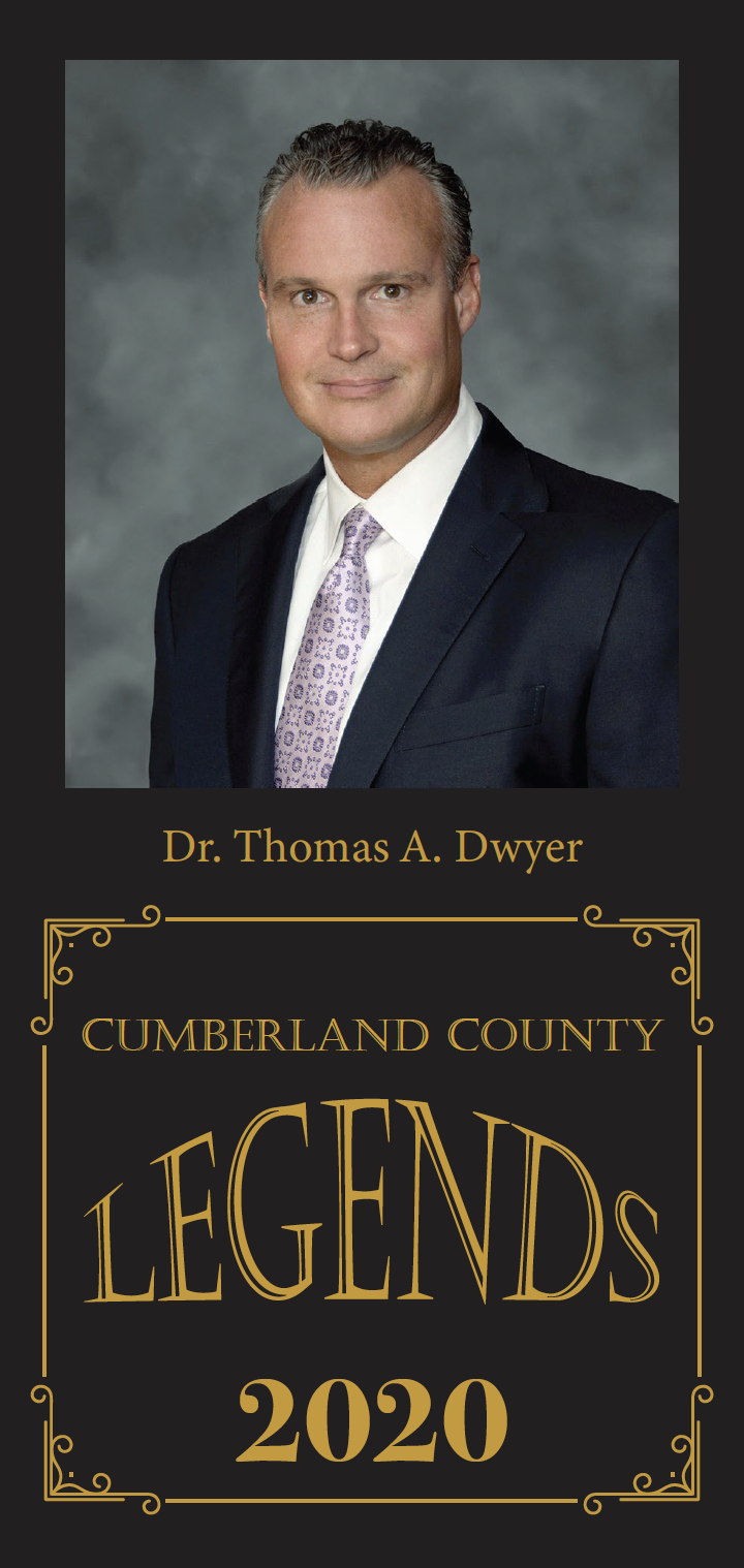 Dr. Thomas A. Dwyer was one of a trio recently honored with Cumberland County Legend award