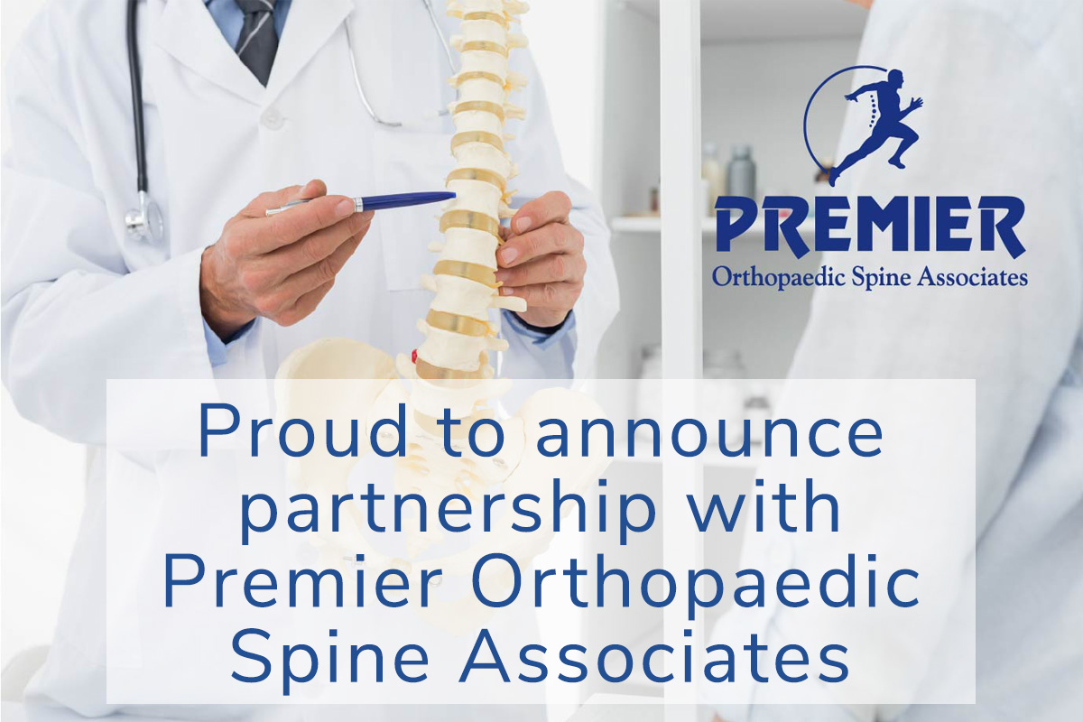 Proud to announce partnership with Premier Orthopaedic Spine Associates